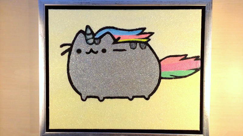 GLITTER PAINTING – PUSHEEN