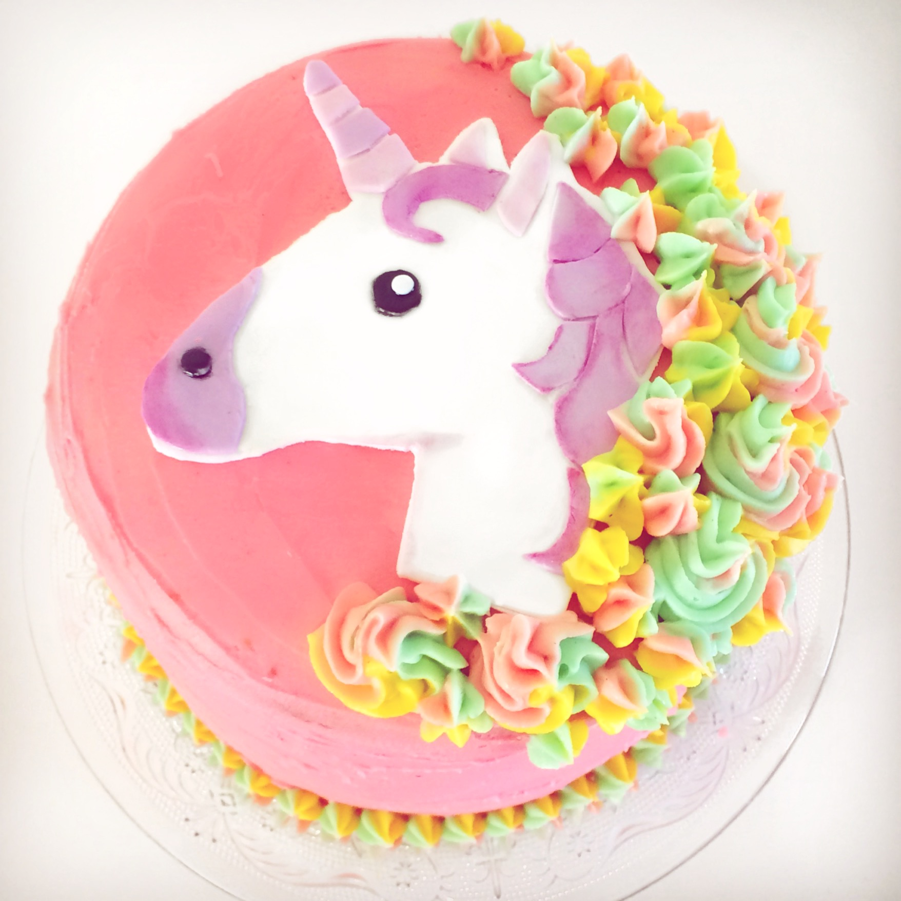 DIY Unicorn Rainbow Cake