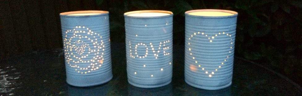 Tin Can Tea Light Holders