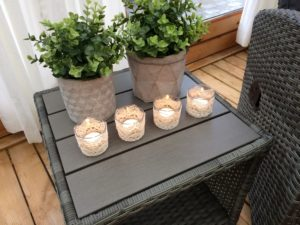 Laze tea light holders