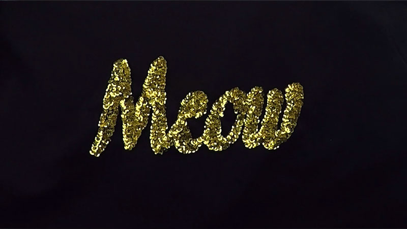 Meow sequin shirt